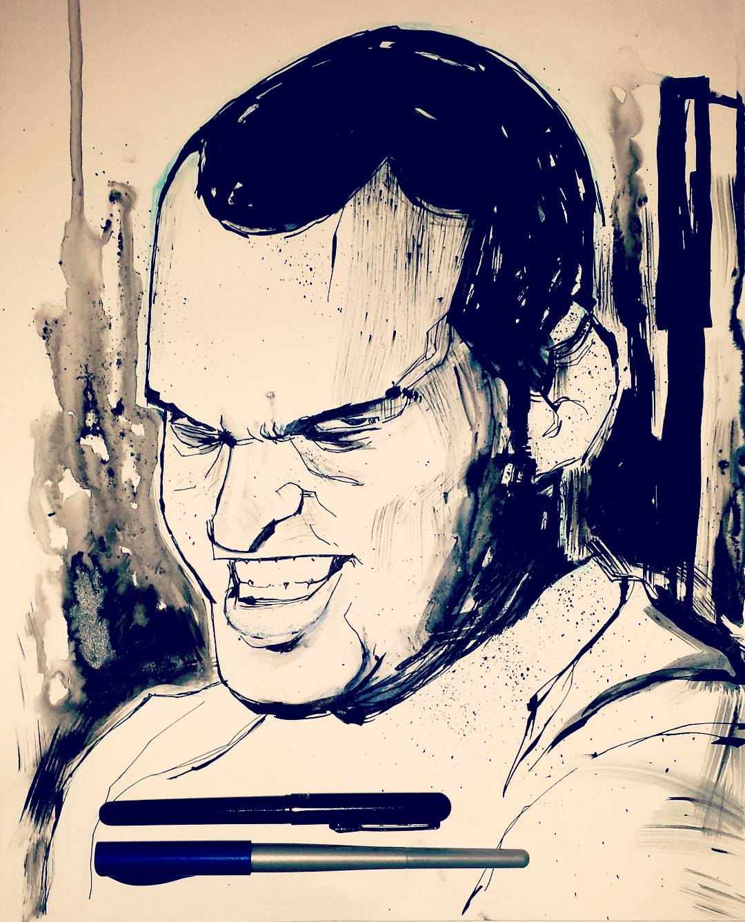 Stanley Kubrick Gomer Pyle Full Metal Jacket Drawing