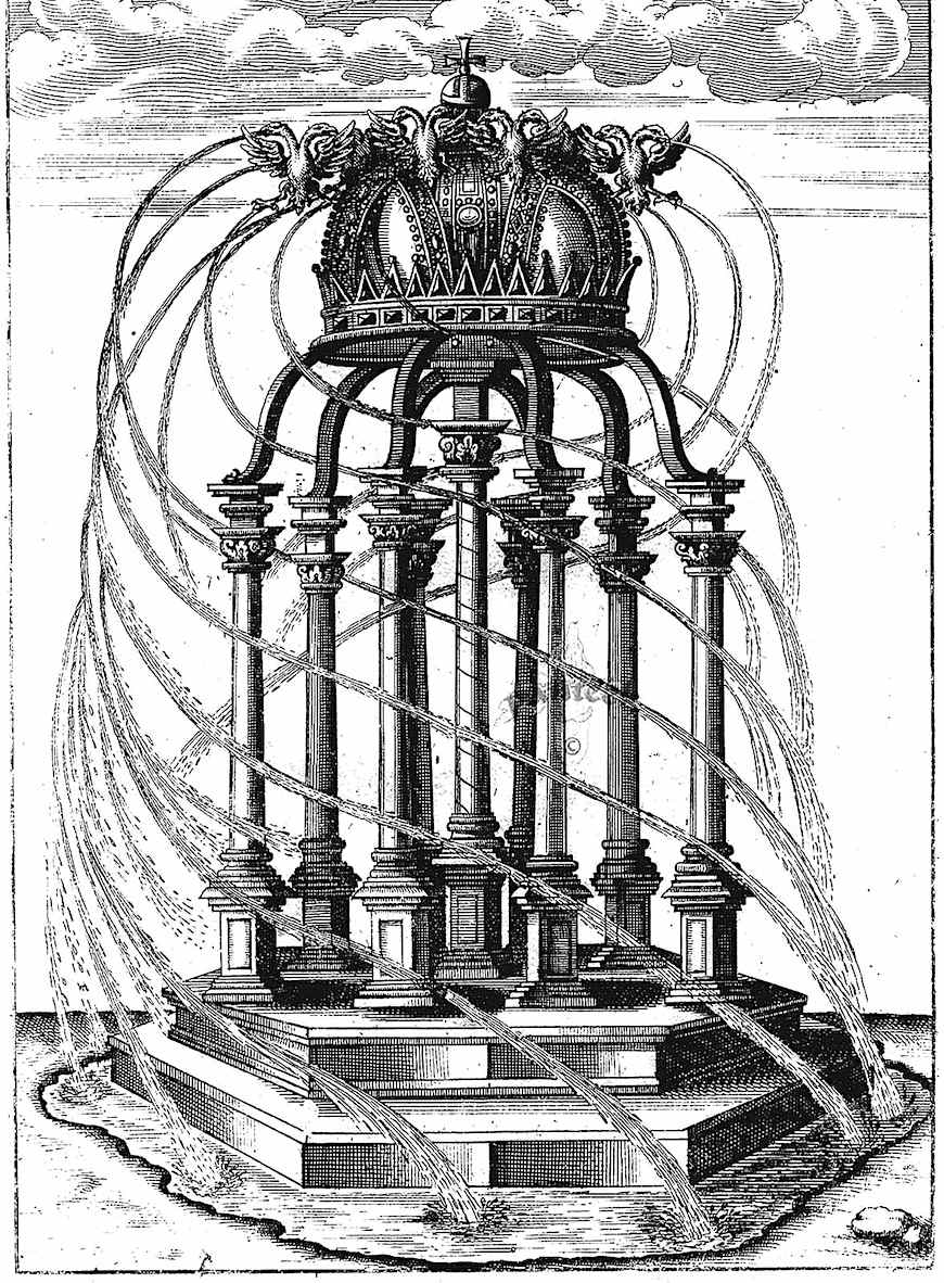 a George Andreas Bockler rotating fountain idea, 1600s