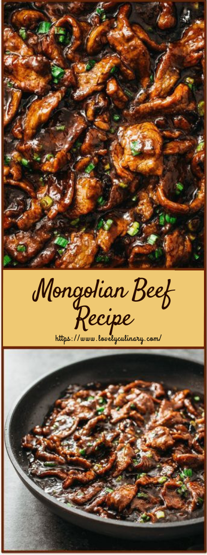 Mongolian Beef Recipe #dinner #recipe