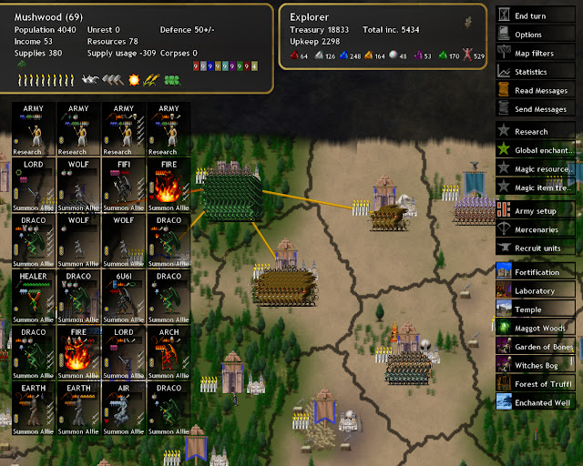 Dominions 4  - Summoners Units Description