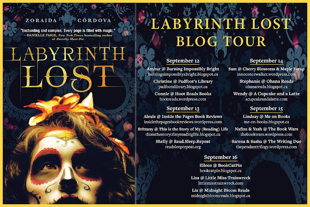 Labyrinth Lost Blog Tour Postcard