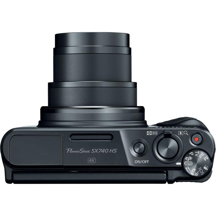 Canon PowerShot SX740 HS, вид сверху