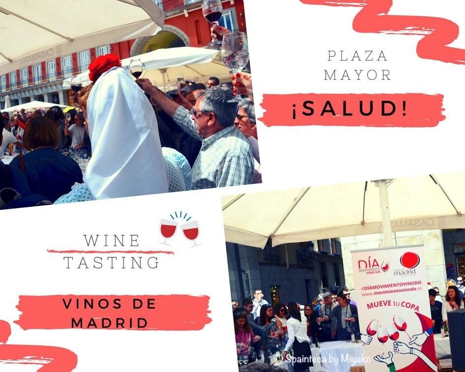Fiestas de San Isidro en Madrid マドリードのサン·イシドロ祭りで乾杯する人々
