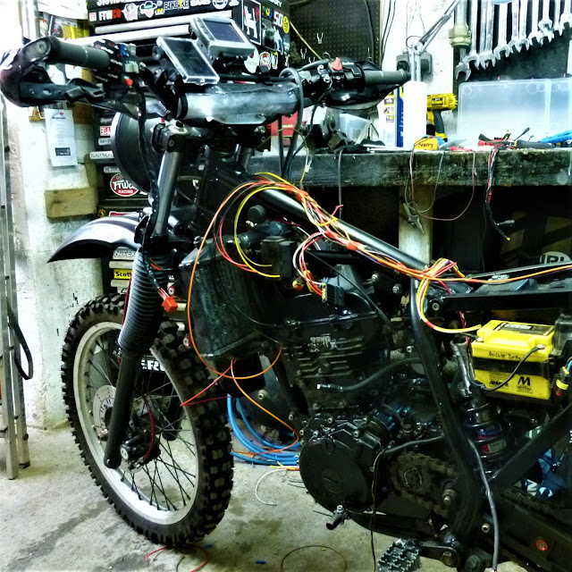 Mercenary Garage custom matte black Kawasaki KLR250