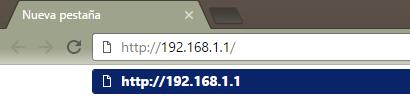Acceso a router Orange con dirección 192.168.1.1