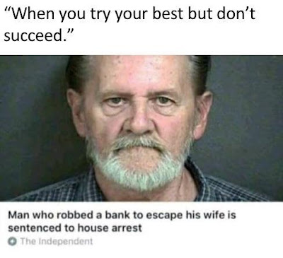 Man who robbed bank to escape his wife is sentenced to house arrest