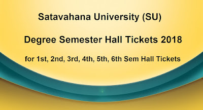 SU Degree Semester Hall Tickets 2018 Download