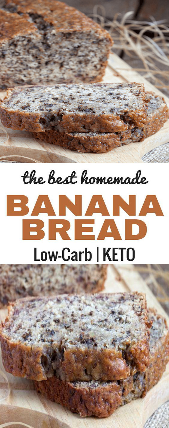 The Best Keto Low Carb Banana Bread Recipe | Breakfast Recipes Healthy, Breakfast Recipes Easy, Breakfast Recipes Make Ahead, Breakfast Recipes Bread, Breakfast Recipes For A Crowd, Breakfast Recipes Keto, Breakfast Recipes Low Carb, Breakfast Recipes Kids, #breakfast #bread #keto #ketobread #lowcarb #lowcarbbread #Lowcarbbreakfast