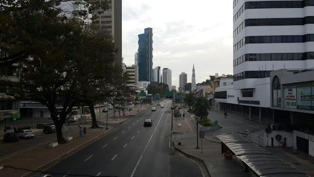 Atardecer de diciembre en la ciudad de Panamá