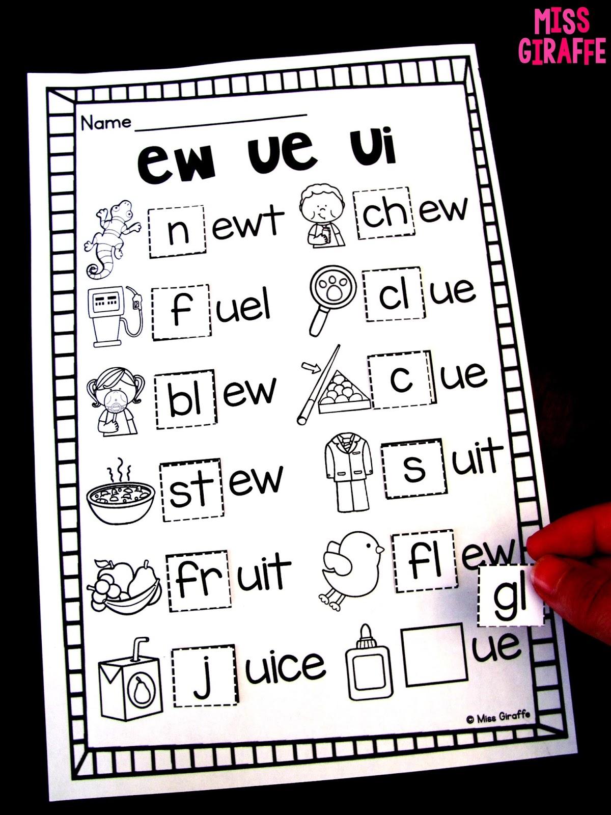 Miss Giraffe's Class: EW UE UI Activities [ 1600 x 1200 Pixel ]