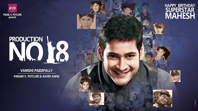 Mahesh babu First Look in Vamshi Paidipally,PVP new movie