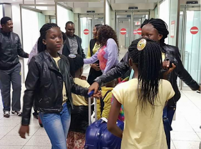 1a - Photos of Apostle Suleman's wife, Lizy and their children in London
