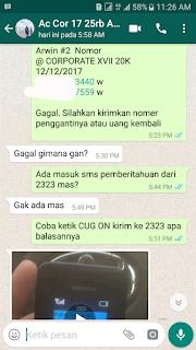 Garansi CUG Telkomsel GAGAL Berupa Uang Kembali
