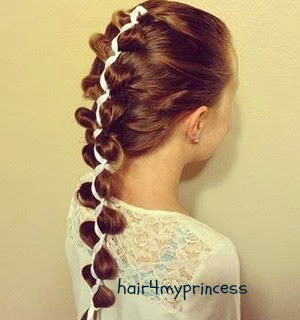 Ribbon Loony French Braid Tutorial princesshairstyles.com