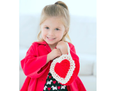 Amigurumi Crochet Heart gift bag