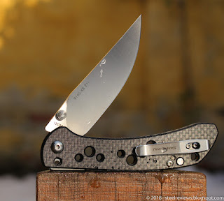 Sanrenmu 9165-KB slip joint folder with CF scales