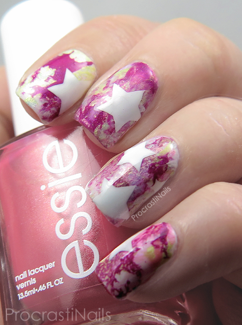 Nail Art Water Spotted Starburst Nails With The Essie Tropical