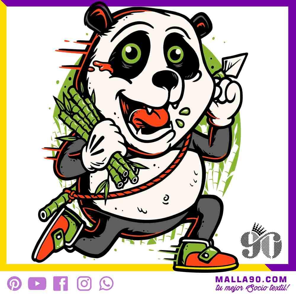 Panda y bamboo vectores sin copyright