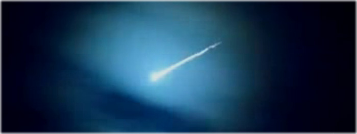 meteoro bola de fogo no Chile em 25 de fevereiro de 2018