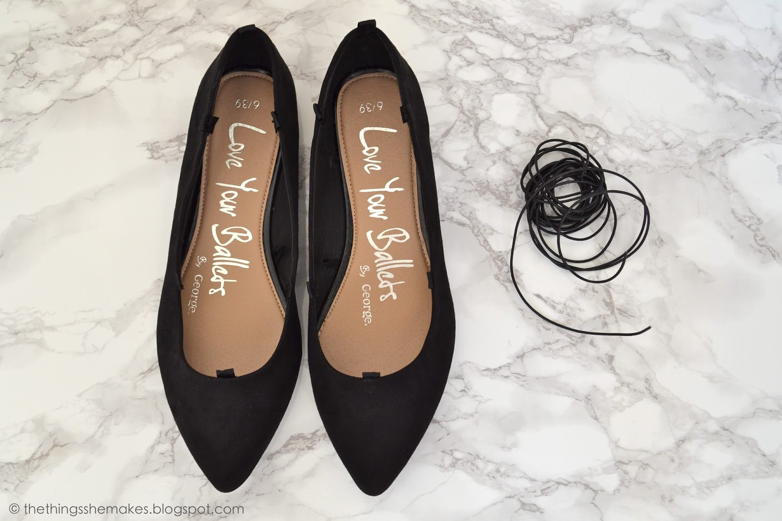 pics Lovely DIY Lace Up Ballet Flats