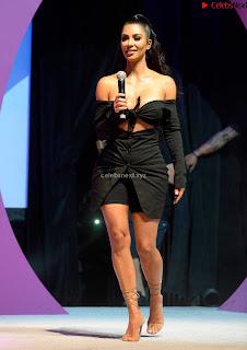 Kim Kardashian Huge  in Black Deep Neck Top Must see August 2018 003