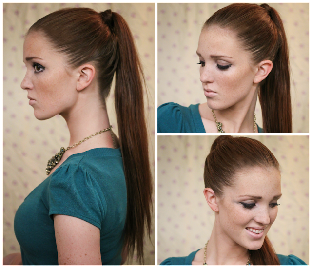 Admirable The Freckled Fox Holiday Hair Week Tutorial 5 The Sleek Ponytail Short Hairstyles Gunalazisus