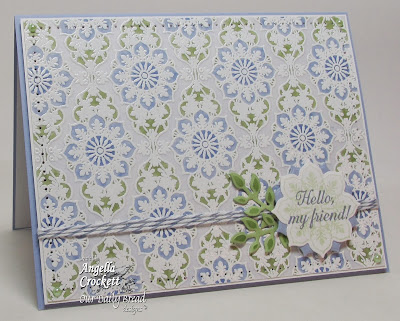 ODBD Ornate Background, Ornate Borders and Flowers, Ornate Borders and Flower Die Set, Ornate Borders Sentiments, ODBD Fancy Foliage Die Set, Card Designer Angie Crockett