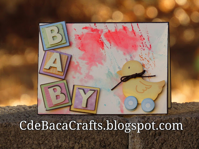 A Cute Baby Shower Card for Babies by CdeBaca Crafts Blog.