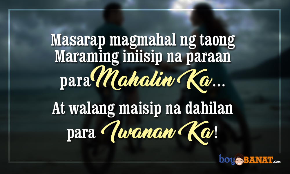 New Tagalog Love Quotes Boy Banat Magnificent Tagalog Love Quotes