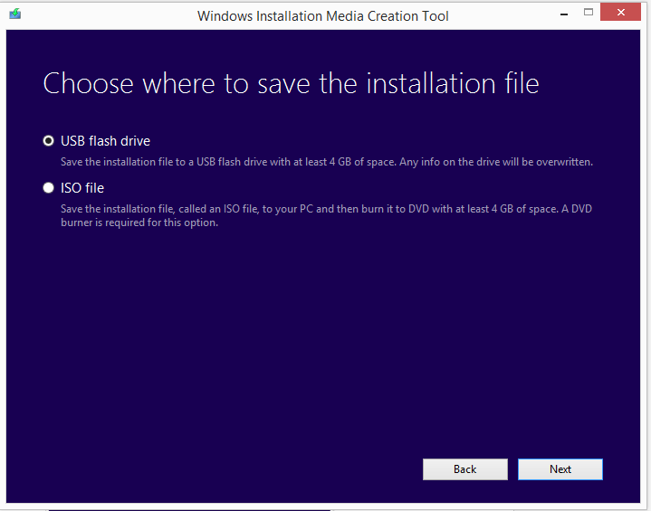 Create installation media for Windows 8.1 2