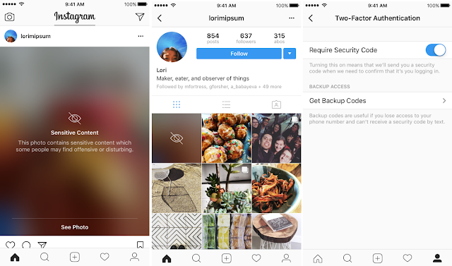 Instagram Begins Blurring Sensitive Posts, Rolls Out Two-Factor Authentication for Everyone
