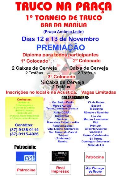 ef0cf9754 Fernando Cabral  Truco na praça - 12 e 13 de novembro