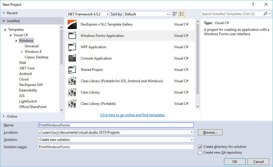 c# print windows forms