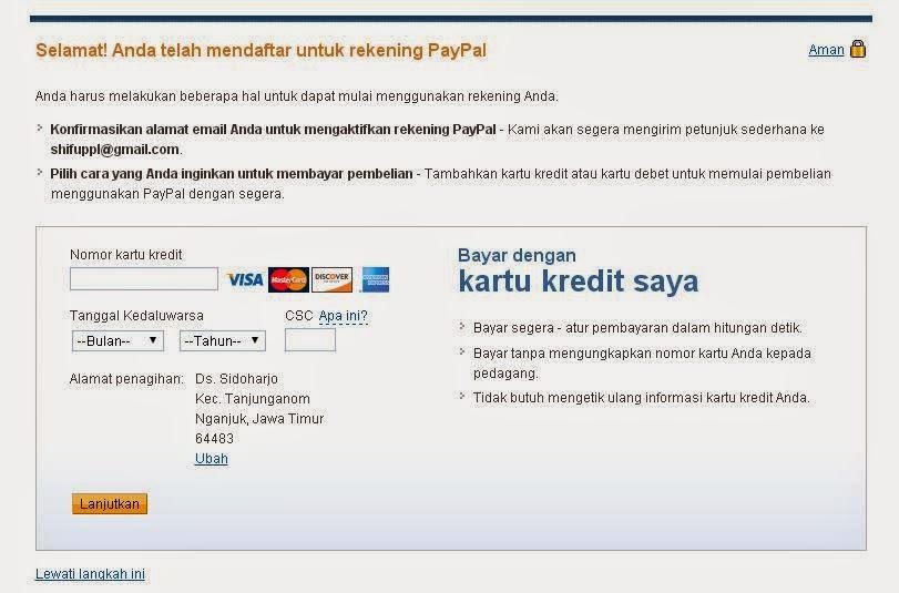 Membuat Rekening Paypal Tanpa Kartu Kredit