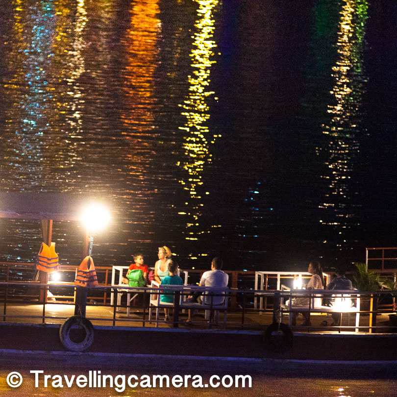 At night the cruise ships come out and you can hear their music from a distance. You can see people dining, dancing, or just sitting an chatting. Some cruises seem quieter. If you happen to take one, make sure all the boxes of your choice are checked in the deal.