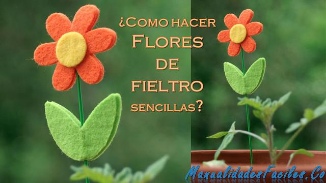 Como hacer Flores de fieltro sencillas