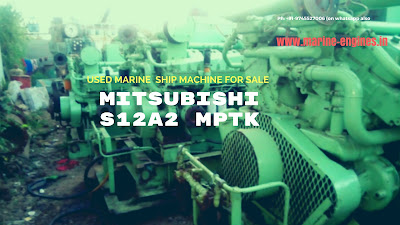 Mitsubishi, S12R2, Marine, Genuine, Low Running hour, Sale, used, Second hand, Supplier, India, Ship, Boat Engine