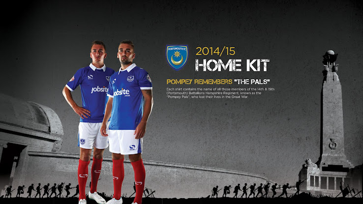 New Portsmouth 14 15 Home And Away Kits Released Footy