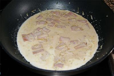 patatas con jamón a la crema de soja paso 3