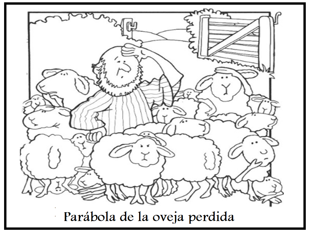 Contemporáneo Página Para Colorear De Ovejas Perdidas Galería ...