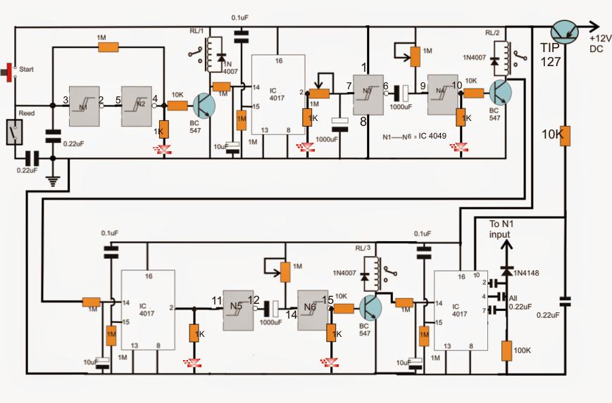 industrial tank water fill  drain controller circuit