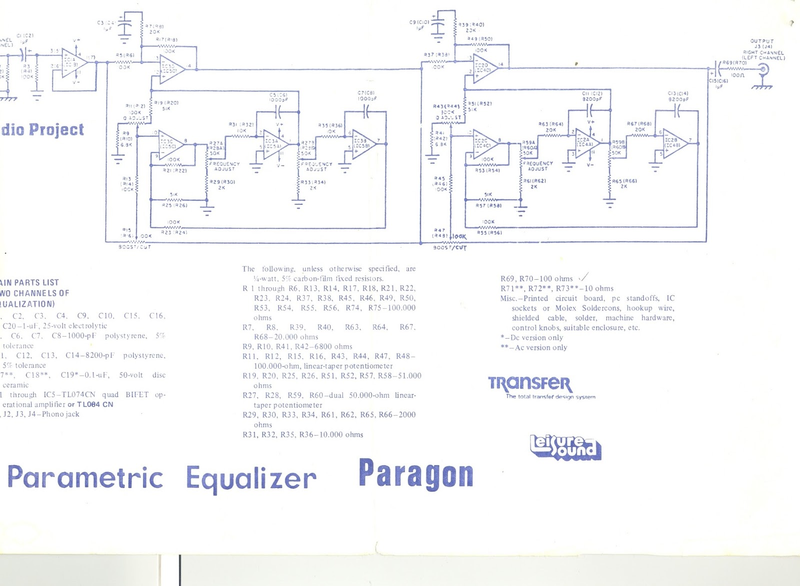 The Orronoco Audio Diy My Project Board Collection Electronic Low Noise Equalizer Amplifier Circuit This Schematic Called Exciter It Says By Using Pre Amp Recording Result Will Be Richer I Never Use For But Should Say That