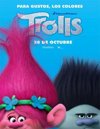 Poster Of Trolls 2016 Dual Audio 720p BluRay ORG [Hindi - English] ESubs Free Download Watch Online downloadhub.net