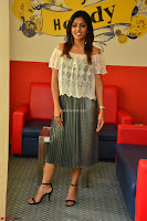 Eesha in a cute deep neck top and Skirt at at Big FM 088.JPG