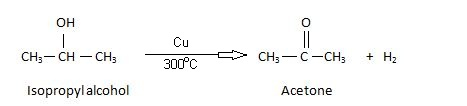 Acetone Manufacturer By dehydrogenation of isopropyl alcohol.