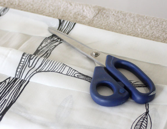 hemming curtains, drapes, drapery, curtain, IKEA, sewing tutorial, how to, DIY