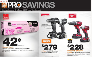 Home Depot Makita Brushless, MilwaukeeM18 +more - Sep 26 - Oct 9
