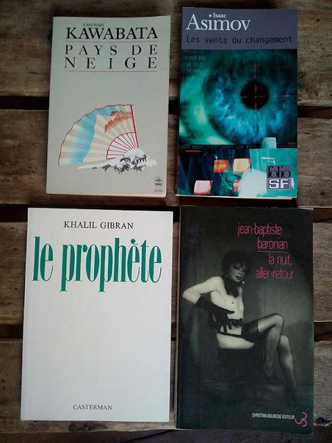 Kawabata, Baronian, Gibran, Asimov