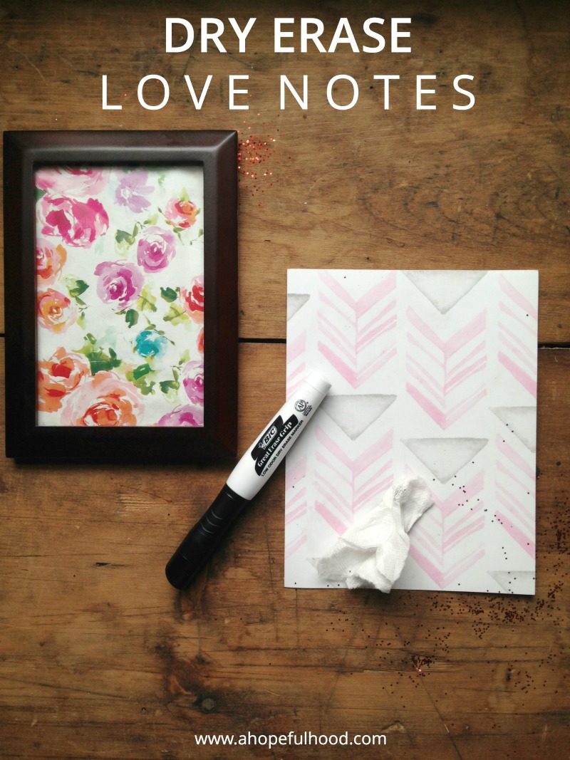 Make your own mini dry erase boards for leaving notes for your spouse...that you can re-write over and over!