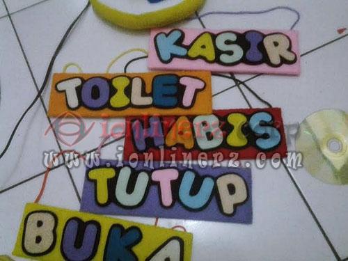 Produsen Gantungan Pintu Kamar Flanel Karakter Kartun Lucu, Murah Jakarta